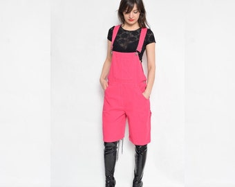 Vintage 90's Pink Overalls Shorts
