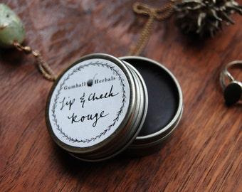 Natural Lip and Cheek Stain, cheek tint, natural rouge, alkanet lip stain, natural blush,