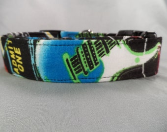 Rock and Roll Dog Collar Guitars on Black