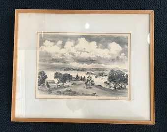 Adolf Dehn signed lithograph