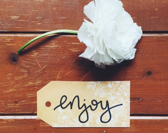 Enjoy gift tags (3 pack)