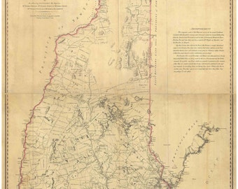 New Hampshire 1784 State Map - Samuel Holland - a detailed early map