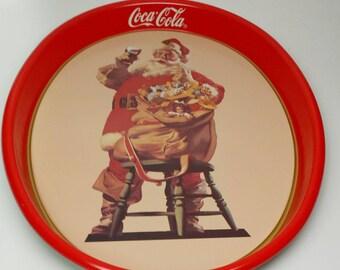 Coke Christmas Tray Etsy