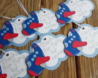 Airplane Favor Tags, Plane Gift Tags