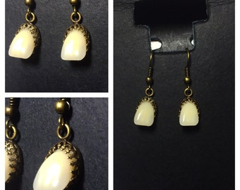 Human Tooth Earrings