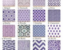 Summer Sale Little Girls Purple and Lavender Curtains, Drapes, Nursery Decor, Nursery Curtains, Window Treatments, Baby Room Decor,