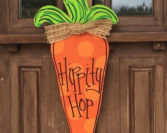 "25"" Easter Carrot Cutout Door Hanger, Custom"