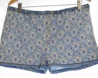 Marrakesh Delights Sleeping Shorts ~ Women's Pyjamas, Sleepwear, Boxer Shorts loungewear Floral Summer moroccan delft blue middle east