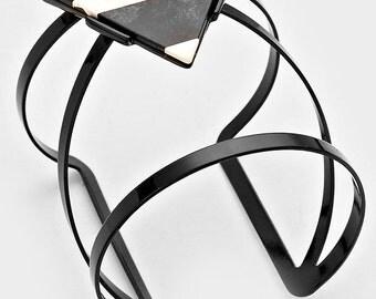Geometric Triangle Cuff Bracelet