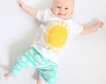 Hello Sunshine Baby tshirt, toddler t-shirt
