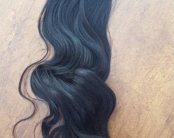 "Virgin Human Hair Barrette Clip in/ On Ponytail Hair 14"""