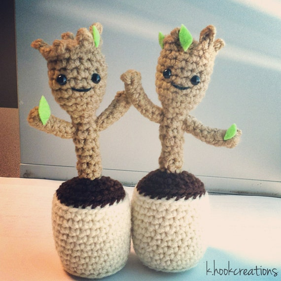 Dancing Baby Groot Amigurumi Pattern from KHookCreations ...