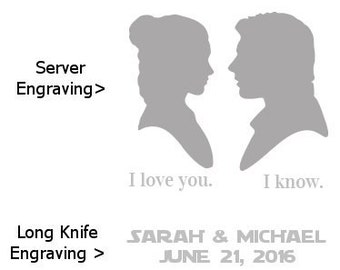 Star Wars Princess Leia & Han Solo Wedding Cake Knife Set - Your Choice of Knife Set - 2 Available!