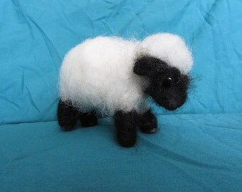 Felted Black Face Lamb or Brown Wooly Bear Cub