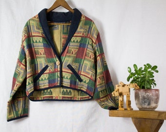 90s Cropped Tapestry Jacket