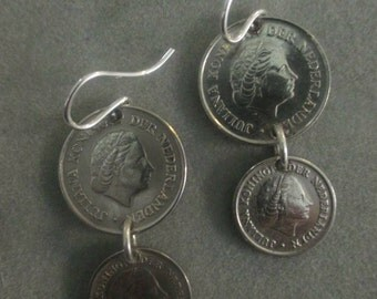 Boho Dangle Foreign Coin Earrings