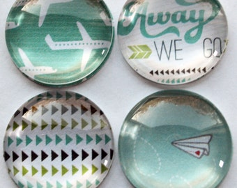 Set of Four Paper Planes Magnets (Super strong)