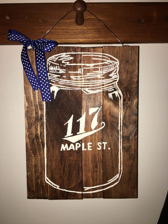 Custom Mason Jar Door Sign