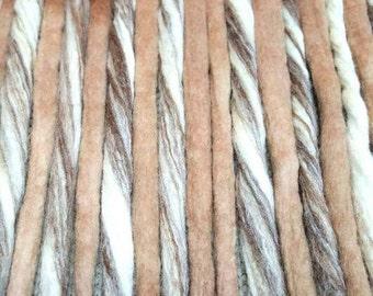 Wool Dreadlocks Custom Wool Dreads Handmade Hippie Dreads Hair Extensions Wool Dreads Ombre Hair Accessories Set of 18