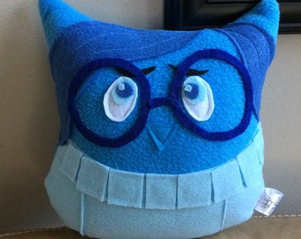 Sadness Owl Plushie- Inspired by Inside Out- Sadness small plush Owl- Blue