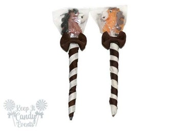 Horse Lollipop Pen, Horse Candy Pen, Horse Party Favor, Horse Theme Birthday, Barn Theme, Barn Yard Birthday Party Favor, Horse Candy Favor