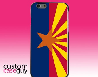 Hard Snap-On Case for Apple 5 5S SE 6 6S 7 Plus - CUSTOM Monogram - Any Colors - Arizona State Flag