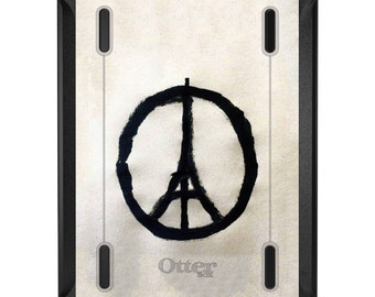 Custom OtterBox Defender for Apple iPad 2 3 4 / Air 1 2 / Mini 1 2 3 4 - CUSTOM Monogram - Paris Peace Symbol