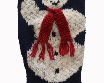 Christmas Stocking - Snowman - MADE TO ORDER