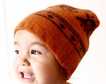 toddler beanie, slouch hat - orange warm wool- kid gift,kid clothes, slouchy beanie, baby boy clothes,girl clothes, bohemian,eco friendly