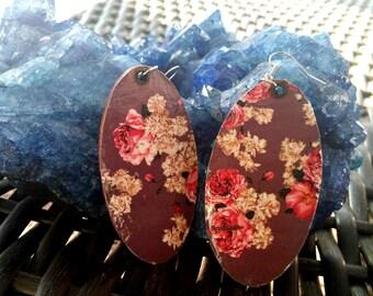 Budding Flowers- Handmade Wooden Earrings