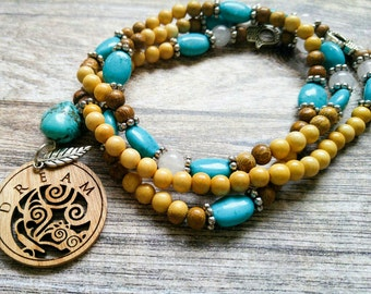 108 Bead Mala Necklace - Mala Necklace - Meditation Necklace - Gift for Women -Beaded Necklace-Birthday Gift- Festival Jewelry