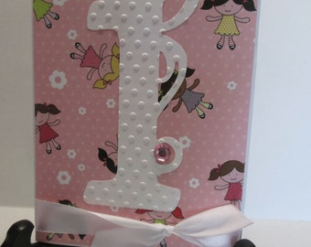 First Birthday greeting card with matching envelope