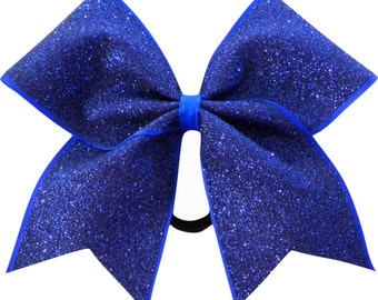 Royal Blue Glitter Cheer Bow | Royal Blue Cheer Bow | Royal Blue Cheerleading Bow | Cheer Bow