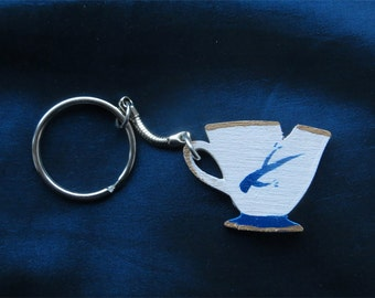 Chipped Cup keyring - Rumbelle inspired