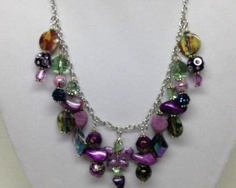 Greens & Purple Necklace