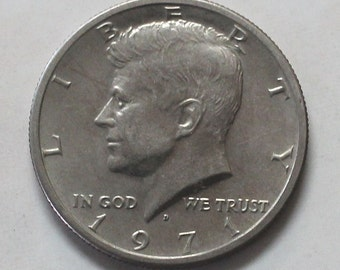 1971 D Kennedy Half Dollar Coin - sku 501