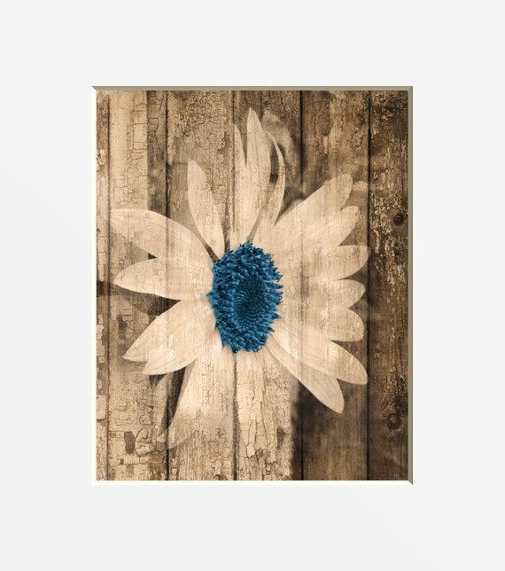 country wall decor sunflower brown blue wall art rustic. Black Bedroom Furniture Sets. Home Design Ideas