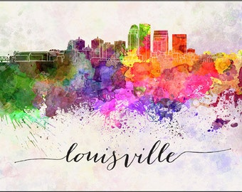 Kentucky Stationery, Louisville Skyline Stationery, Louisville, Kentucky Stationey, Folded Note Card