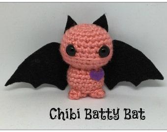 Chibi Amigurumi Bat