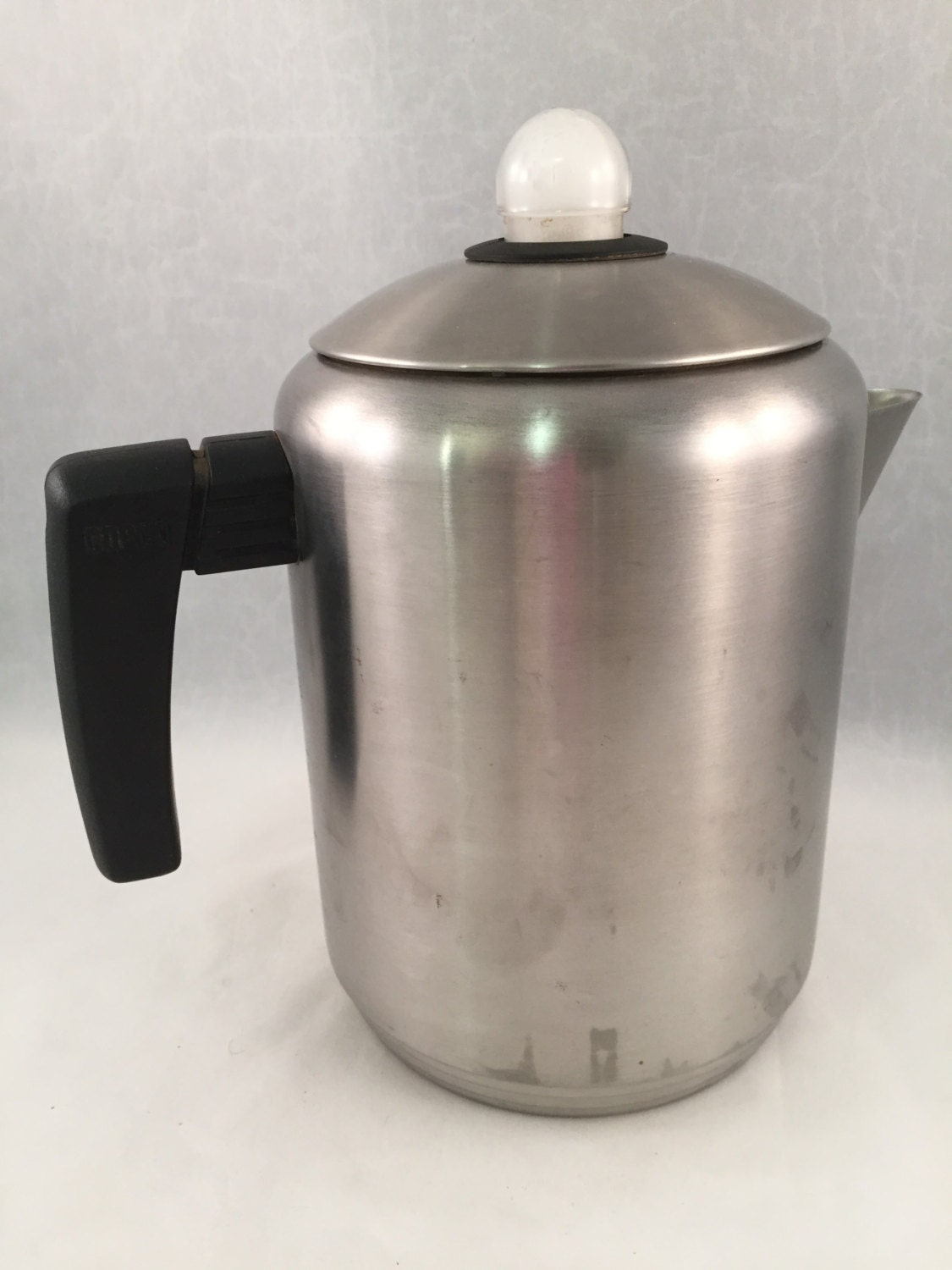 RESERVED 8 Cup Copco Stainless Steel Coffee Pot/Percolator