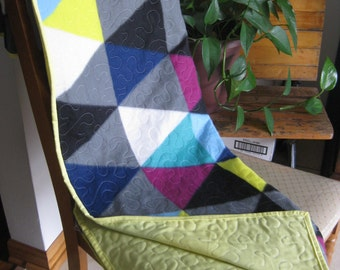 New Handmade Lap Quilt - Made is USA - 49-1/2 x 59