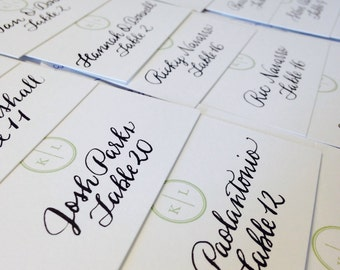 Hand Calligraphy Place Cards - wedding and special events