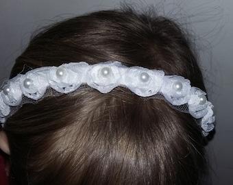 Headband tiara x girl bridesmaid communion