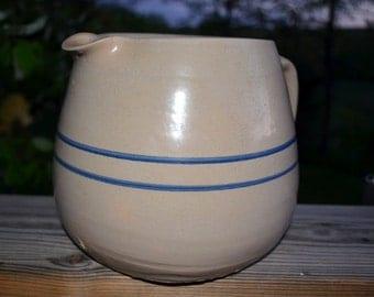 SALE - Vintage Stone Crock Pottery Pitcher