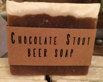 Chocolate Stout Beer Soap - Great Father's Day Gift! - Handmade, all natural, vegan friendly, cold process soap