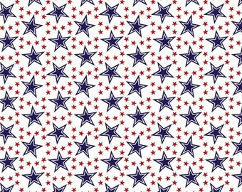 American Anthem Patriotic Fabric Red White and Blue Stars 4th of July Fabrics