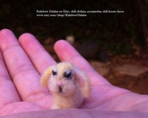 SALE Two designs available- tiny needle felted bunny for Blythe, Momoko, Barbie, Ever After dolls