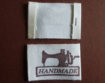 Handmade labels.  4.9cm x 2.5cm.  Set of 20