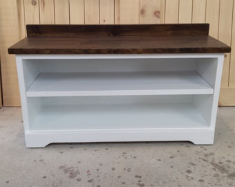 White/  Shoe Bench / Entry Bench / Shoe Organizer / Mudroom Cubby Shoe Storage