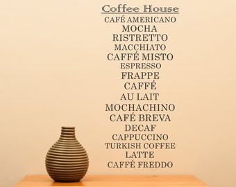 Great Decal For Lover's Of Coffee ... Vinyl Wall Decal Sharp Home Decor